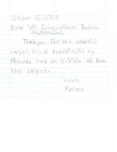 Thank you notes from Ms. T's Class http://manhattanvirtualoffice.com/blog/2009/11/09/thank-you-notes-from-ms-ts-class/