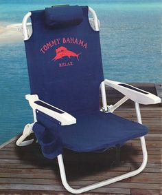 U003c3 Tommy Bahama Beach Chair..Folds All The Way Back..has