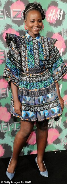 That looks familiar! Lupita Nyong'o and Chloe Sevigny rocked very similar Kenzo frocks at an event launching the designer's line for H&M in New York on Wednesday
