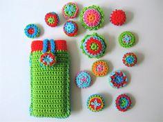 Crochet buttons - Beates bunter Blog: Häkelknöpfe