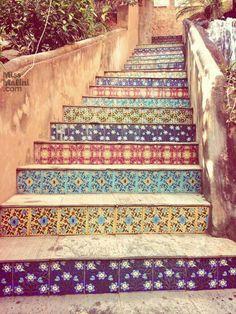 Jaipur India | tiled staircase
