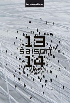 Photo macro + silhouette le jardin graphique, visuel Les champs libres - saison 13.14