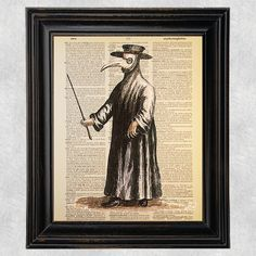 Check out this item in my Etsy shop https://www.etsy.com/listing/211953721/plague-doctor-historical-medical-art