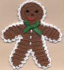 GINGERBREAD BOY.....pattern inc lhttp://web.archive.org/web/20060319045320/http://irenecrafts.com/patterns/gingerbreadboy/gingerbread_boy.htm