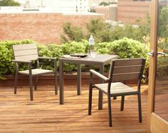 A bistro set is a perfect way to add extra seating to your party patio or deck.