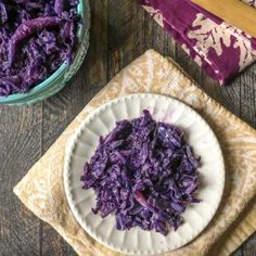 Garlic Ginger Red Cabbage (easy side dish) - My Life Cookbook