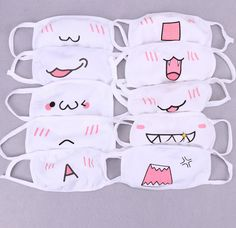 Kawaii Mask Random sold by Kawaii Cutie Shop. Shop more products from Kawaii Cutie Shop on Storenvy, the home of independent small businesses all over the world. Funny Face Mask, Diy Face Mask, Face Masks, Emoji Mask, Mouth Mask Design, Cartoon Mouths, Diy Masque, Mask Drawing, Mouth Mask Fashion