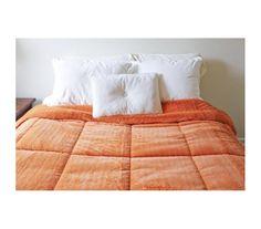 College Plush Comforter - Orange Ochre - Twin XL Dorm Bedding Perfection