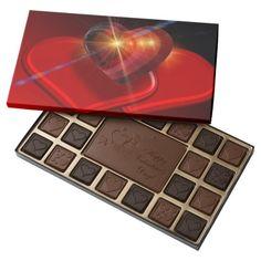 Trio of Red Valentine Hearts 45 Piece Assorted Chocolate Box