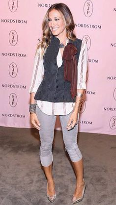 Sarah Jessica Parker loves Zadig! Always radiant, with our gilet!