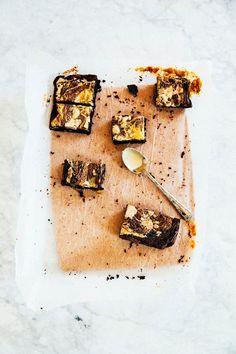 tahini and halva floss brownies