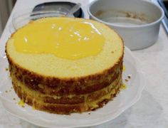 Amazing recipe for the most elegant and moist Orange Layer Cake. From scratch and with step by step pictures. Chilean Recipes, Chilean Food, Cake Flour, Sponge Cake, Baking Pans, Cheesecake, Good Food, Breakfast, Sweet