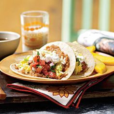Egg and Cheese Breakfast Tacos with Homemade Salsa | MyRecipes.com