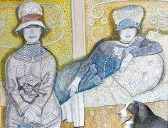 ''Damas con el perro'' Virgilio Trompiz