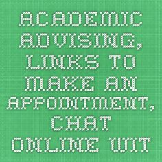 Academic Advising, links to make an appointment, chat online with an advisor, and access major worksheets Worksheets, Study, Programming, Studio, Studying, Learning, Research, Coding
