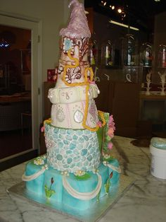 Fairy Tale Rapunzel Cake by jen_ponzuric, via Flickr
