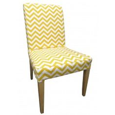 Custom IKEA Slipcover For Henriksdal Dining Chair In Sunshine Chevron Part 63