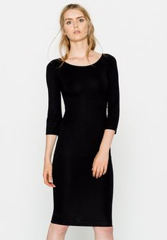 4176401175cd Midi dress with 3 4 sleeves - Šaty - Oděvy - Ženy - PULL amp