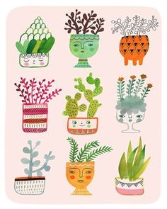 A lovely bunch of plants, by @sarahwalshmakesthings  #sarahwalsh