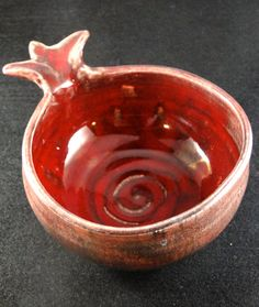 Pomegranate Bowl. Super cute, perfect ring holder while cooking or doing dishes! #pomegranates