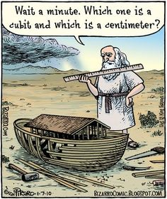 Noah and the Ark - Bizarro comic by Dan Piraro. Christian Comics, Christian Cartoons, Christian Jokes, Funny Shit, The Funny, Hilarious, Funny Stuff, Jw Humor, Math Humor