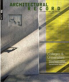 Architectural Record núm.11/2016 http://archrecord.construction.com/ http://cataleg.upc.edu/record=b1002530~S4*spi