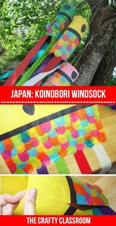 Windsock KoiNoBuri http://thecraftyclassroom.com/crafts/japan-crafts-for-kids/japanese-carp-kite-craft/