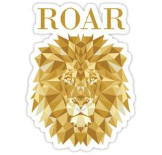 'Roar Katy Perry' Sticker by Katy Perry, Samsung Galaxy Cases, Iphone Cases, Roaring Lion, Lion Design, Sticker Design, Ipad Case, Bruno Mars, Prints