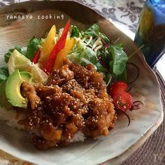 10分で!豚コマでご飯がすすむサラダ丼♡ by AYA
