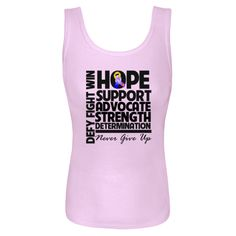 Bladder Cancer Hope Support Advocate Women's Baby Rib Tank Top - Lilac | Cancer Shirts | Disease Apparel | Awareness Ribbon Colors