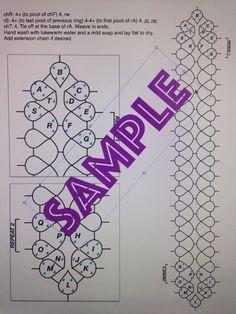 PDF file tatting pattern for Figure 8 bracelet by Shannhob on Etsy