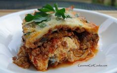 Gourmet Girl Cooks: Grilled Eggplant Lasagna - Low Carb & Grain Free