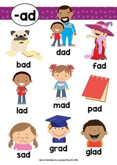 Phonics For Kids, Learning Phonics, All About Me Preschool, Phonics Books, Phonics Reading, Phonics Worksheets, English Activities For Kids, Word Family Activities, Early Learning Activities