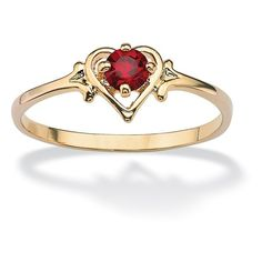 Oval-Cut Birthstone Heart-Shaped Ring in 14k Gold-Plated ($22) ❤ liked on Polyvore featuring jewelry, rings, jewelry & watches, unisex rings, oval cut ring, 14 karat gold ring, gold plated jewelry e 14k gold plated ring