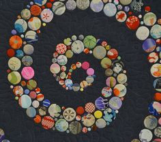 """detail of the quilt """"Life"""" by Yoshiko Katagiri from the Tokyo Quilt Festival in January 2013.  Look at all those tiny CIRCLES, each one individually appliqued!!!"""