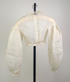 Blouse  Date: ca. 1865 Culture: American Medium: Cotton Credit Line: Brooklyn Museum Costume Collection at The Metropolitan Museum of Art, Gift of the Brooklyn Museum, 2009; Gift of Mrs. Bergen Glover, 1961