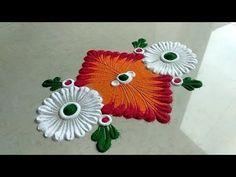 super ideas for boho art painting pattern colour Simple Rangoli Designs Images, Rangoli Designs Flower, Rangoli Designs Diwali, Rangoli Designs With Dots, Flower Rangoli, Beautiful Rangoli Designs, Diwali Rangoli, Rangoli Colours, Rangoli Patterns