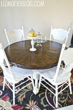Antique Claw Foot Pedestal Table Refinished In White Paint