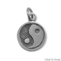 Sterling Silver Yin-Yang Charm by jewelrymandave on Etsy