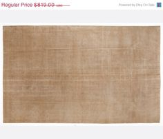 ON SALE 6,2 x 10,1 FT___190 x 308 Cm           Vintage Beige Ivory Cream  handmade faded-distressed overdyed rug Free shipping (5912)