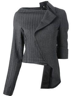 asymmetrical sculpture jacket