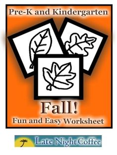 Pre-K and Kindergarten Fall Worksheet