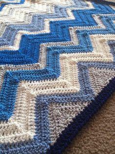 (4) Name: 'Crocheting : Chevron2.0 Blanket