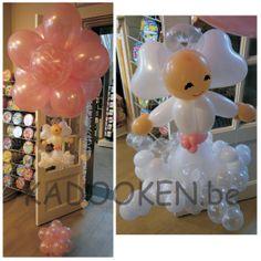 Communieballonnen, communie engel, tafeldecoratie, decoratie communie, helium, heliumballonnen, ballondecoratie