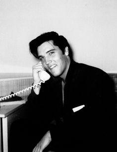 Elvis in his room at the Hawaiian Village Hotel, Hawaii, November 9, 1957.