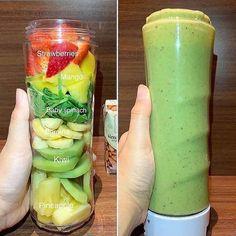 Healthy Fruit Smoothies, Fruit Smoothie Recipes, Healthy Fruits, Healthy Drinks, Healthy Recipes, Superfood Smoothies, Spinach Recipes, Beef Recipes, Easy Recipes