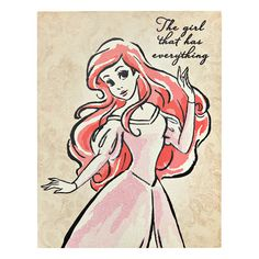 "Home Decor- Quotes: wall art Ariel princess quote   Ariel Fashionista Quote Canvas Wall Art, 11"" x 14"" //  $12.99 Disney Pixar, Arte Disney, Disney Fan Art, Disney Love, Disney Princess Paintings, Disney Princess Drawings, Disney Drawings, Disney Little Mermaids, Ariel The Little Mermaid"