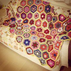 African Flower Hexagon Crochet.7 #Crochet