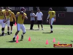 USC fall camp quarterback drills from 8/7 - YouTube