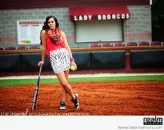 senior portrait ideas for girls, softball, bat, ball, cleats, fashion, sequin skirt,
